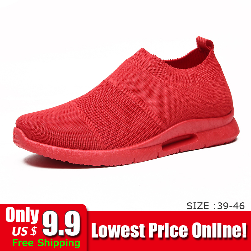Damyuan Light Running Shoes Jogging Shoes Breathable Man Sneakers Slip On Loafer Shoe Men's Casual Shoes Size 46 DropShipping