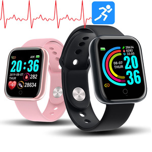 Y68 Smart Watch Women D20 Pro Men Smartwatch for Apple IOS Android Heart Rate Monitor Blood Pressure Sports Tracker Wristband(China)