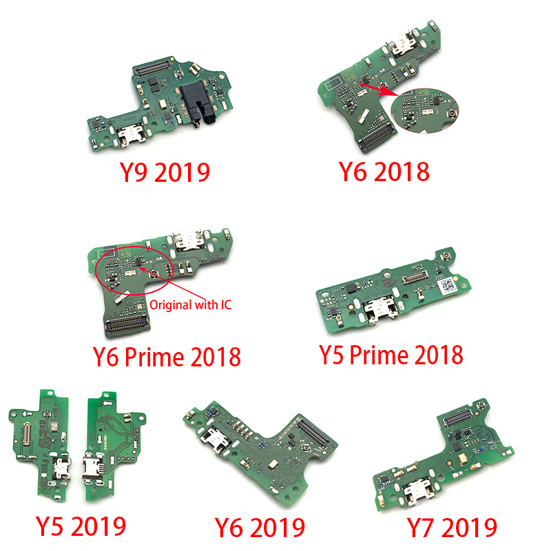 Dock Connector Micro USB Charger Charging Port Flex Cable Board For Huawei Y6 Y7 Y9 Y5 Prime 2018 2019 Replacement Parts