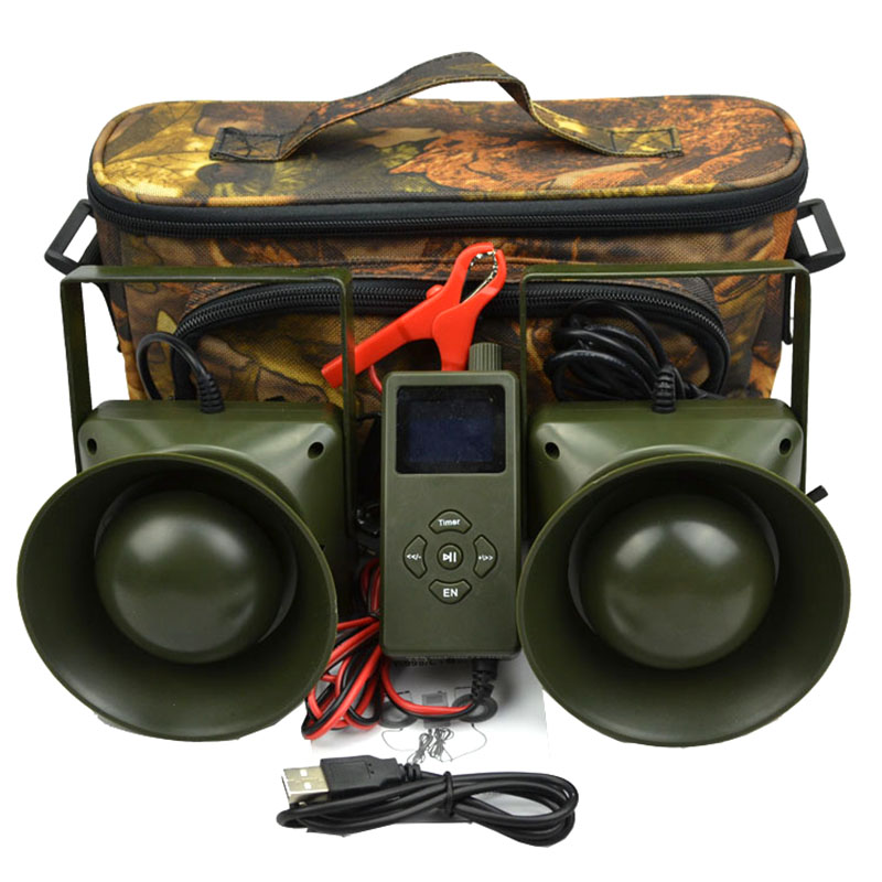 300 Sounds 2x60W External Loud Speaker with Timer On/Off Electronics Mp3 Hunting Bird Caller Turkey Hunting Decoys Green Color