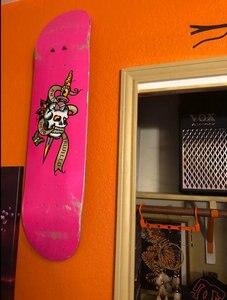 Image 5 - 6/PK Skateboard Floating Deck Display Wall Mount Rack Holder Hanger Fit Home Storage Display