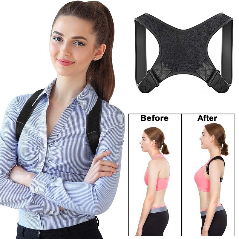 Brace Support Belt Adjustable Back Posture Corrector Clavicle Spine Women Men Universal Back Shoulder Lumbar Posture Correction
