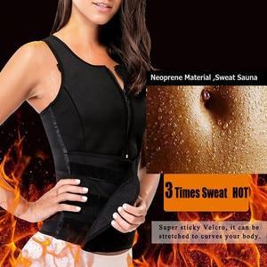 Image 3 - LAZAWG Vrouwen Sauna Zweet Neopreen Top Taille Trainer Body Shaper Hot Thermo Vest Afslanken Shapewear Shirt Zweet Sport Shirt