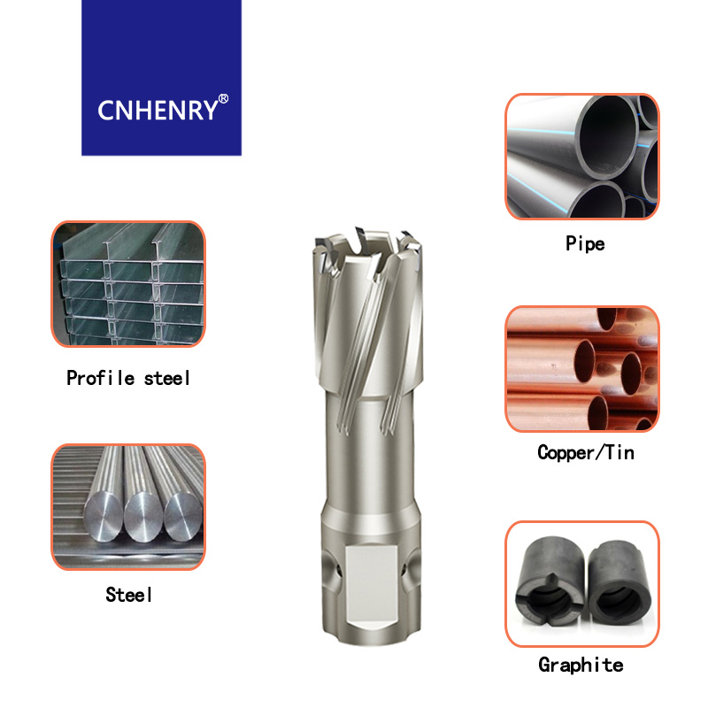 Image 3 - TCT Annular Cutter 22 63*35mm TCT Metal Core Drill Bit Diameter Hole Saw For Steel Reaming Magnetic Drill BitDrill Bits   -