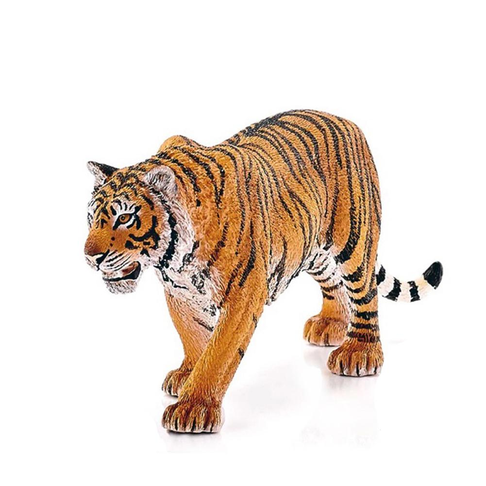 Large Size Children Emulational Zoo Animal Toys Figure Tiger Model Plastic Wild Animal Doll For Desk Decoration Kids Toy