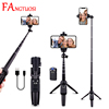 FANGTUOSI Wireless bluetooth Selfie Stick Portable Extendable Foldable Tripod monopods With USB charging remote control