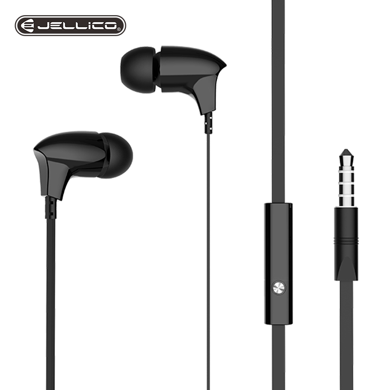 Jellico Cool Sports Earphone With Microphone 3.5mm In-Ear Stereo Earbuds Headset For Computer Cell Phone MP3 Music Phone