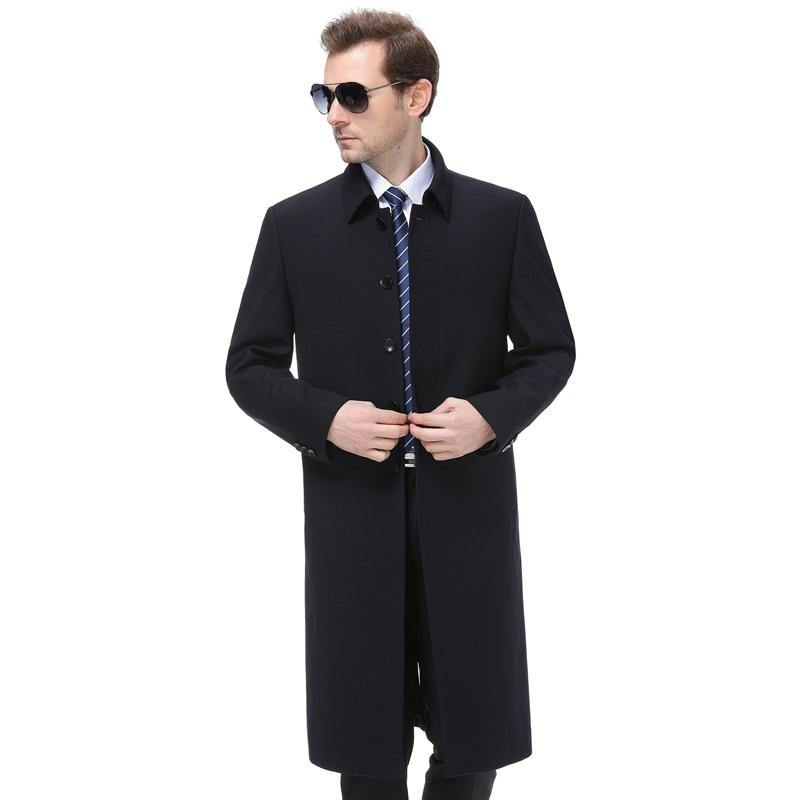 Grande taille 5xl 2019 hommes veste manteau longue Section mode Trench manteau hommes coupe vent marque décontracté Fit pardessus veste d'extérieur