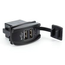 Enchufe de cargador con puerto USB Dual para motocicleta y coche, accesorios impermeables para acampada, 12V-24V, 3,1a