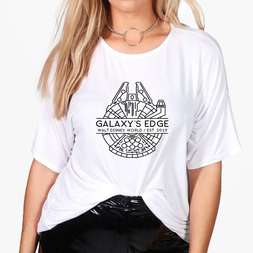 Женская футболка большого размера с изображением Галактики, Волта Диснея, мира оверсайз, весна-лето, Харадзюку