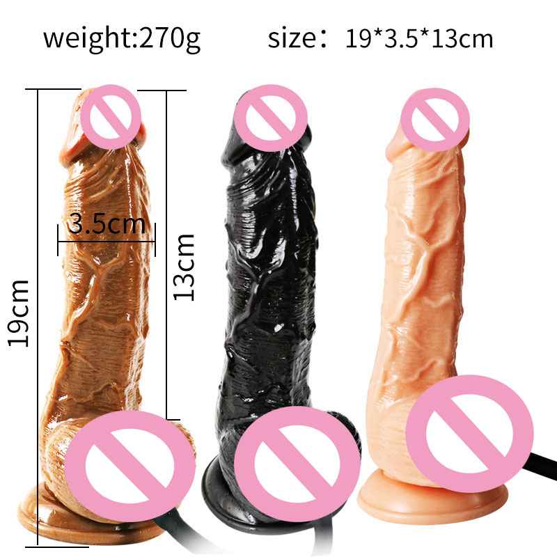 Huge Realistic Dildo Suction Cup Horse Dildo Enlargement Inflatable Real Huge Penis Pumps for Women G Spot Adult Sex Toys 2019 in Dildos from Beauty Health