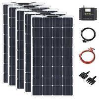 Xinpuguang 500w semi flexible solar panel home system (5PCSX 100 W) DIY tragbare Solar Ladegerät Kits PV Für Marine RV Boot auto