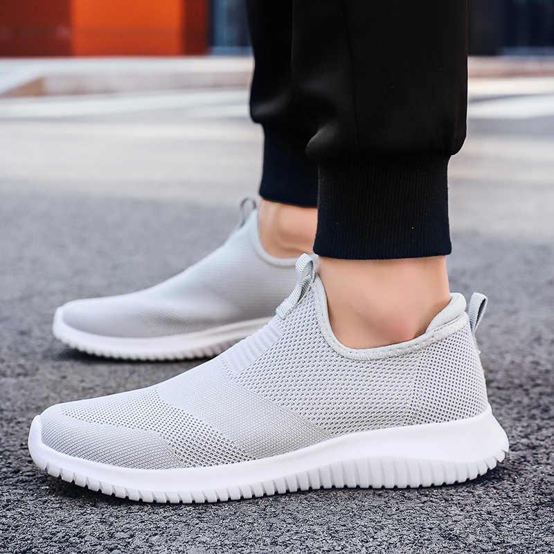 Paar Running Sneakers Mannen Vrouwen Classic Zwart, blauw, grijs Kleur Mannelijke Casual Schoenen Lichtgewicht Ademende Loafer Schoenen