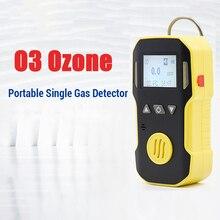 Detector de ozônio testador de gás ozônio o3 concentração de ozônio residual detector de vazamento analisador monitor com som luz alarme vibração