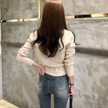 Ailegogo Women's Sweaters Autumn Winter 2020 Cardigans Knitted Button Single Breasted Fashion Korean Style Slim Solid Tops 3