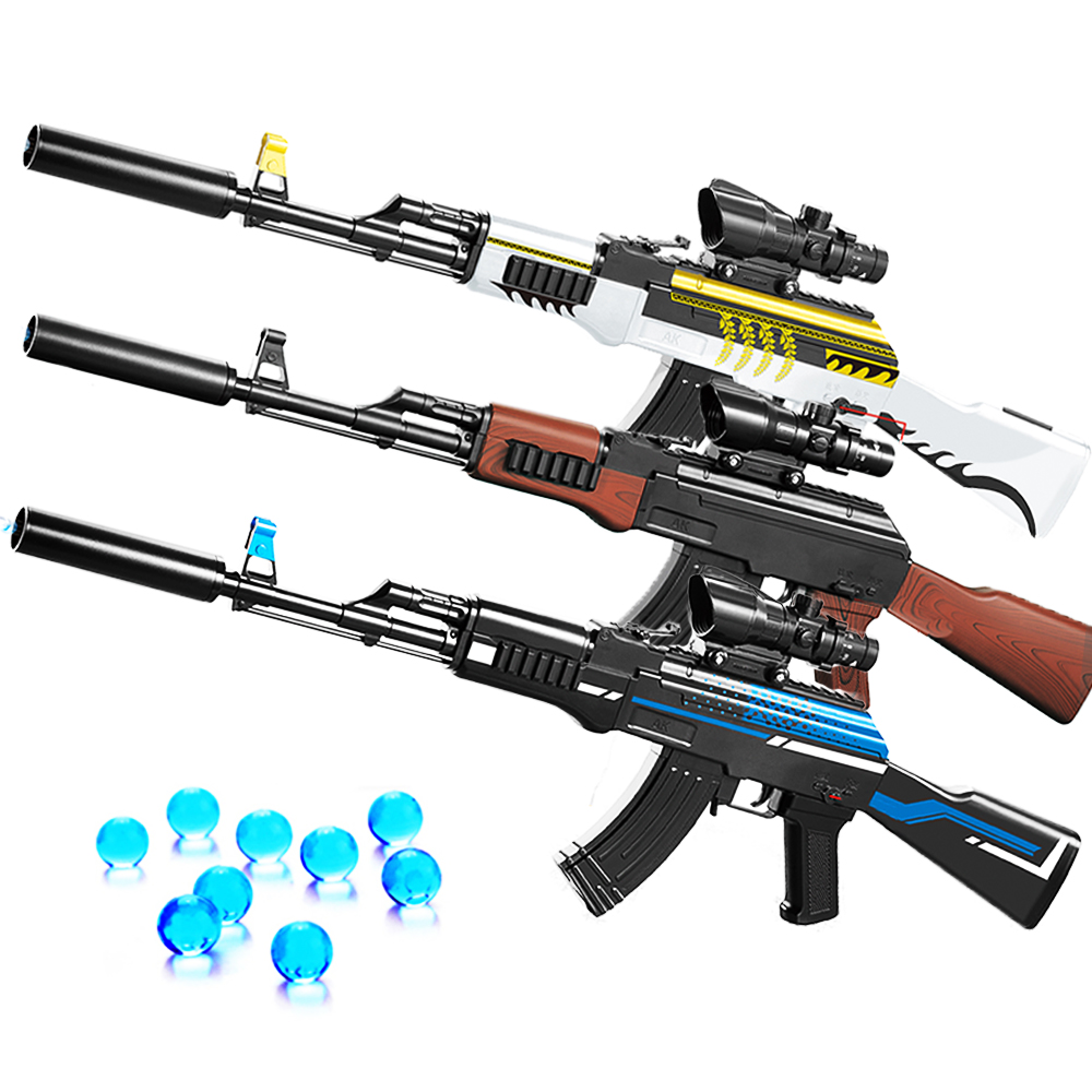 Plastic Infrared AKM AK 47 Toy Gel Ball Guns Tiptronic Electric Burst Water Bullet Gun Boys Sniper Rifle Toy Kids Mens Gifts