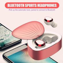 CALETOP TWS Bluetooth 5.0 Earphone Noise Reduction Hifi Sound Heavy Bass Stereo Earbuds with Microphone Sweatproof Sports Earbud