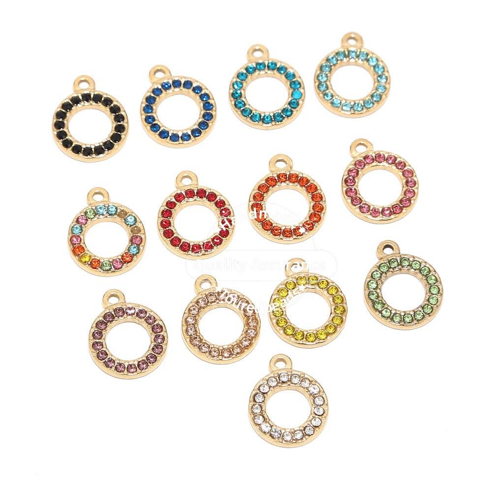 5 шт. подвески из нержавеющей стали с полыми кругами, Золотые Подвески для изготовления сережек и ожерелий