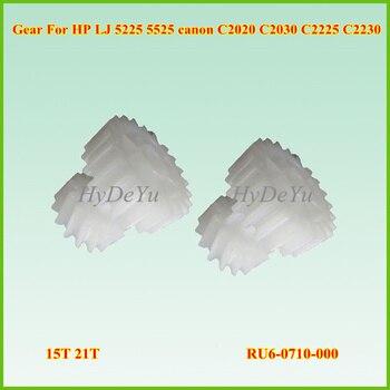 10 Uds nuevo engranaje blanco Compatible RU6-0710-000 21T 15T engranaje para HP LJ 5225 5525 para canon C2020 C2030 C2225 C2230