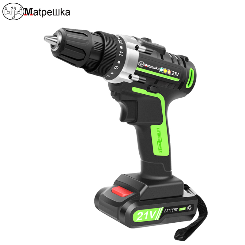 21V Power Tools Home Cordless Electric Screwdriver Mini Electric Drill Multi-Function Lithium-Ion Rechargeable Electric Drill