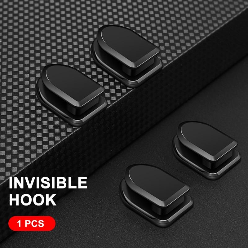Car Hooks Organizer Storage Usb Cable Headphone Key Self Adhesive Wall Hanger