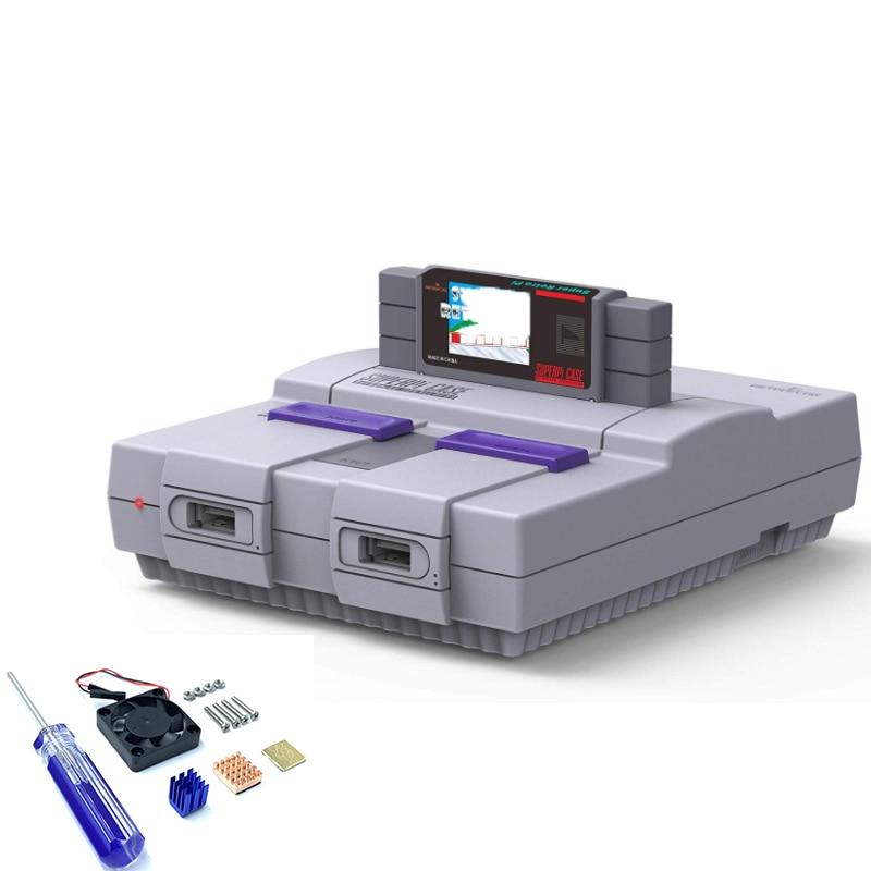 Retroflag SUPERPi U CASE Or J Case with 2PCS Wired USB Gamepad with coolling fan+heatsinks for Raspberry Pi 3B Plus (3B+)/3B