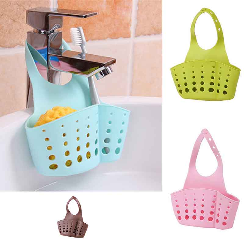 Kitchen Hanging Sink Drain Basket Storage Drain Bag Cleaning Brush Toothbrush Holder Soap Sponge Drain Rack Sucker Storage Tool