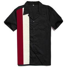 Brand 2021 Look Online Western American Mens Cotton Black Red Blue Cowboy Hip Hop Designer Vintage Party Club Rockabilly Shirt