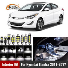 9Pcs  White LED Lamp Car Bulbs Interior Package Ki