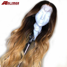 Honey Blonde Lace Front Wigs Natural Wave Ombre Colored Malaysian Human Hair Wigs For Black Women 13x6 Lace Frontal Wig(China)
