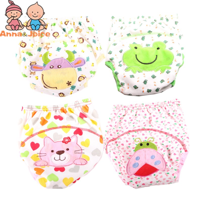 2Pc/lot  Baby  Training Pants Washable Cotton Leakproof Diaper Cover Panties