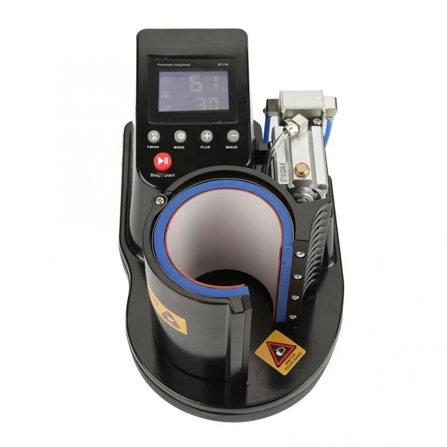 Pneumatische Auto Becher Transfer Sublimation Hitze Presse Maschine ST-110 Schwarz
