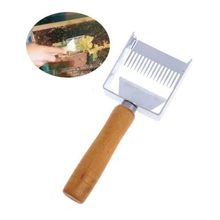 Manche en bois aiguille miel couteau clairsemé pelle Cutter miel grattoir abeille pelle peigne abeille boîte débouchage fourchette outils apicoles