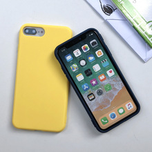Macarone Candy Color Soft Phone Case For Iphone X Xs Max Phone Case For IPhone 8plus 7 For Iphone 8 Plus Cases For Iphone 11pro cheap Dizha Newbee Half-wrapped Case Pure color Apple iPhones iPhone SE iPhone 7 iPhone 7 Plus IPHONE XS MAX IPHONE XR iPhone11