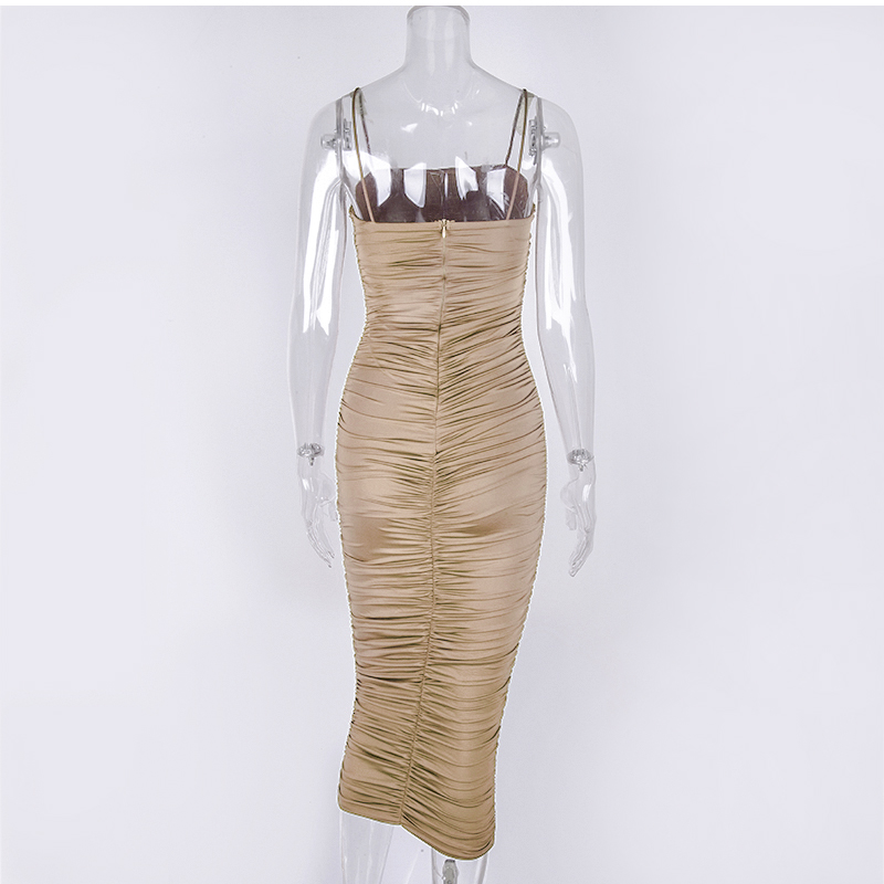 Hfad8e927571d41a799a2d7f6935374acL - NewAsia 2 Layers White Summer Dress Women 2020 Elegant Straps Ruched Maxi Dress Pink Long Dress Sexy Dresses Party Night Robe
