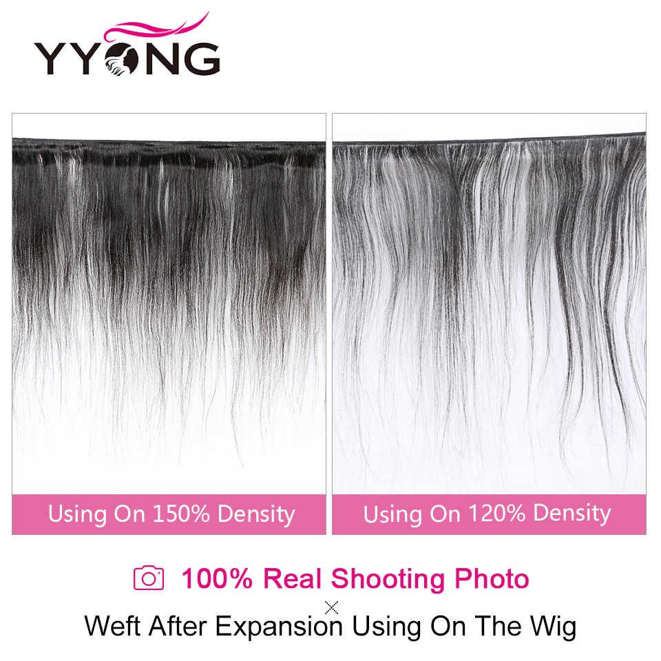 YYONG 13x4 Gerade Spitze Vorne Perücken 130% Dichte Menschenhaar Spitze Front Perücken Medium Braun Spitze Perücken Indische remy Haar Niedrigen Verhältnis