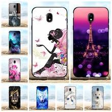 For Samsung Galaxy J7 2018 Case Soft TPU Star Cover Girl Patterned V 2nd Funda