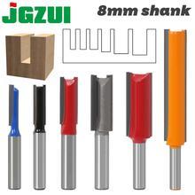 1 pcs 8mm Shank 2 חליל ישר קצת נגרות כלים קצת הנתב עץ טונגסטן קרביד endmill כרסום קאטר