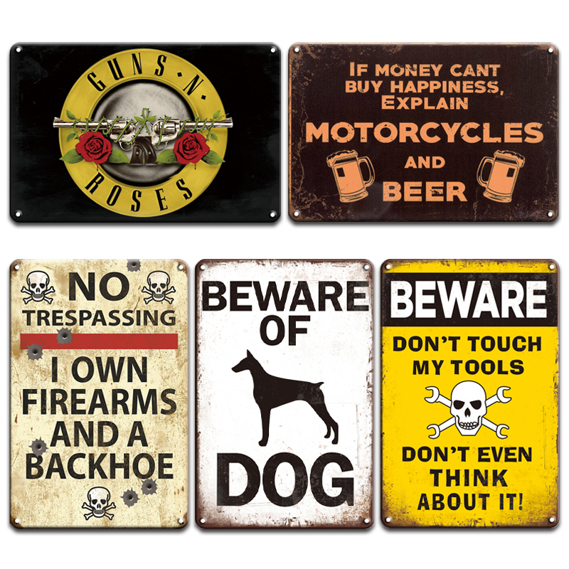 Warning No Trespassing Forget the Dog Beware Of The Wife Aluminum Metal Sign