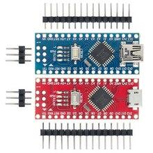 Freeshipping 100 pces nano v3.0 controlador compatível com nano ch340 usb driver sem cabo para arduino