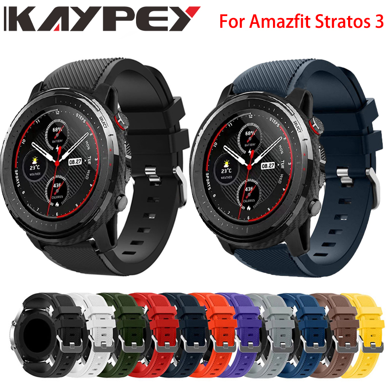 22MM Sports Colorful Silicone Band For Huami Amazfit Stratos 3 Replacement Strap For Amazfit Stratos 3 2/2S PACE Smart Watch