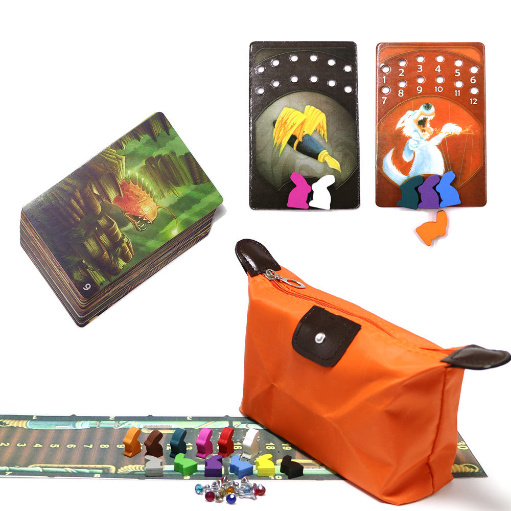 New DD, Mini Dixit Board Games Deck 9- Harmonies Cards Game Wooden Bunny Kids Toys Russian & English Rules For Home Party Game