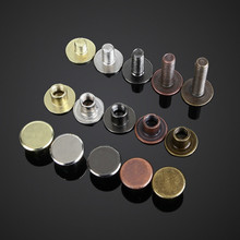 Rivet-Head Buckle Notebook-Screw 1 for Luggage Leather-Craft Hardware Carbon-Steel 10pcs/Set