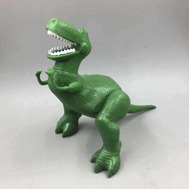 Disney Toy Story Rex o Dinossauro Verde 4 22 centímetros Q Versão Figuras de Ação PVC mini Boneca Caçoa o Presente de Natal modelo de Brinquedo para Crianças