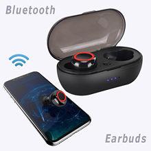 Y50 – casque Bluetooth Tws2 Mini Portable, sans fil, avec double micro et batterie 2000mAh, étui de Charge, # T2