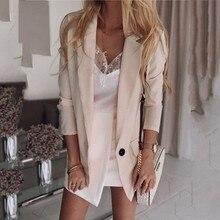 Женская верхняя одежда зимние куртки Модный повседневный Блейзер Ruched Длинный Рукав Открытый передний крой офисный Кардиган Куртка пальто F40