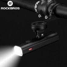 ROCKBROS 400LM bisiklet işık bisiklet far tutucu ile IPX3 USB şarj edilebilir bisiklet el feneri Combo ön tutucu