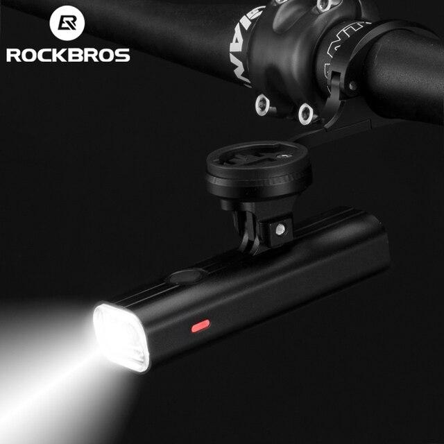 ROCKBROS 400LM luce per bici faro per bicicletta con supporto per montaggio IPX3 USB torcia ricaricabile per bici Combo supporto anteriore esterno