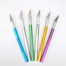 Bricolage métal Scalpel couteau lames anti-dérapant Cutter gravure artisanat couteaux lames pour ordinateur portable et téléphone portable PCB réparation outils à main