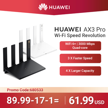 WiFi Geschwindigkeit Revolution HUAWEI AX3 Pro Router Quad Core WiFi 6 + Router 3000 Mbps Quad Core Tippen Zu Verbinden Easy Set Up